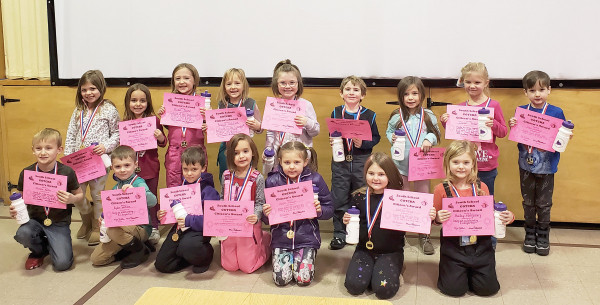 Photo courtesy Alyssa Nauman                        The following students were chosen as South Elementary's Citizens Of The Semester. These students were caught following the three Be Rules: Be Respectful, Be Responsible and Be Safe. Each of them are being recognized as positiverole modelsat school. In the back row from the left are Kamrynn Hansen, Remington Auer, Alexis Baird, Reagan Anderson, Rylee Miller, Asher Getchell, Maci Serrano, Isabel Torbert and Jakob Gebhard. In the front are Trevor Keller,