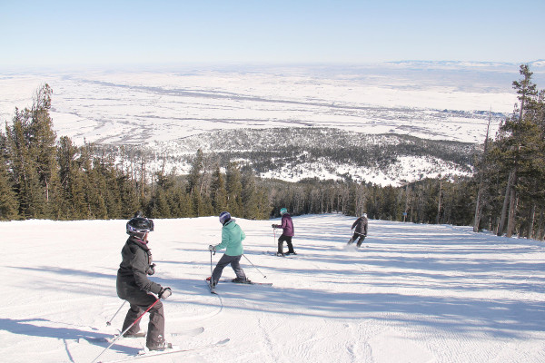Four Laurel 8th graders made their way down Lazy M at Red Lodge Mountain Resort during the middle school's annual ski trip.