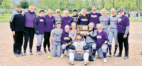 The Lady Loco Softball team with their Divisional trophy after winning the Southeastern A tournament in Livingston last weekend. Courtesy photo