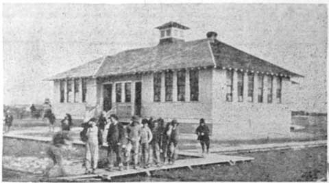 Right - South School appeared to be the only wood-frame building left in the school system in 1920.