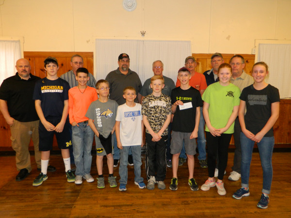 The Laurel Shooting Education program received $2,200 from the Tri-County Sportsman's group. The young shooters set up a range in Jaycee Hall for practice and have over 50 members.