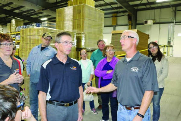 Brian Woods of Woods Powr Grip offered a tour of the company's recently expanded plant Thursday, Oct. 19, as hosts for the Laurel Chamber's Business After Hours. Folks who didn't go on the tour stayed in the company lounge networking and enjoying drinks and snacks.