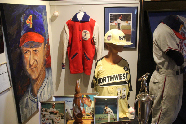 Outlook photo by Chris McConnell.  Baseball memorabilia and souvenirs are being sought by the Yellowstone County Museum for a permanent display.