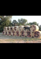 Panther pride shows in this hay bale sign. Kudos to the artist. Outlook photo by Chris McConnell