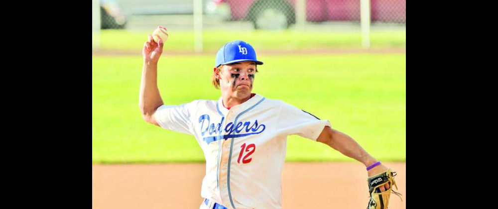 Jaxon Whittmayer got the win in the second game on Tuesday night as the Dodgers beat Glendive easily in a doubleheader in Laurel. He pitched six innings with two strikeouts and only allowed two earned runs. Photos courtesy Gloria Allwin