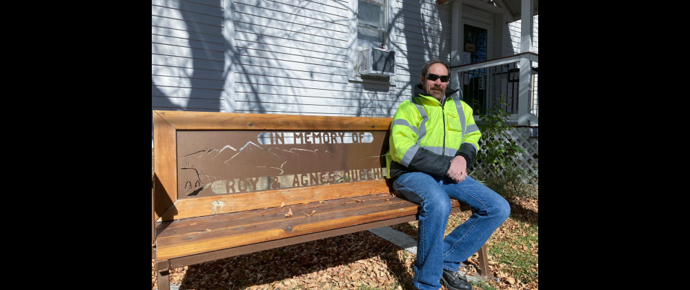Joliet Public Works Director Charlie Buechler has been working for the city of Joliet since the 1970s, taking over as director when his dad Roy Buechler retired. A bench outside City Hall honors Charlie's parents, Agnes and Roy Buechler.