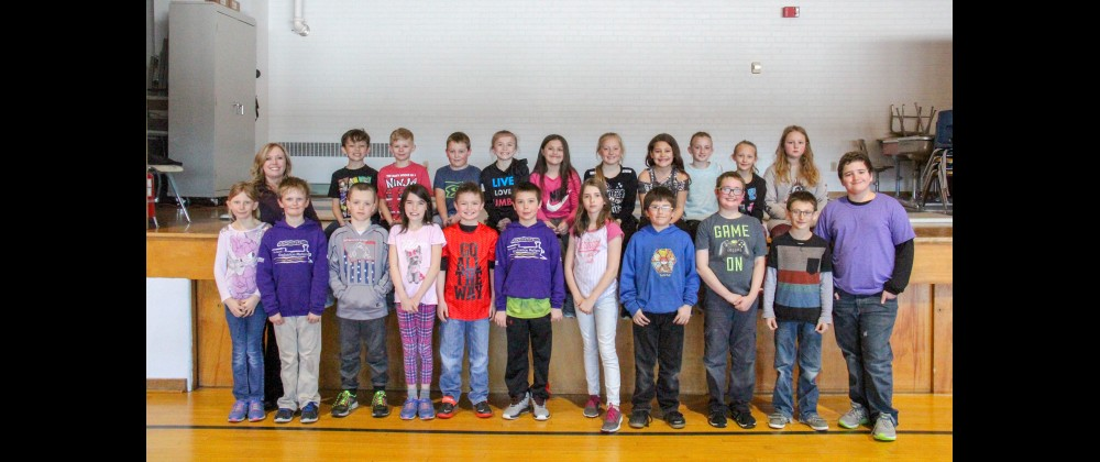 Outlook photo by Chris McConnell.  Ms. Kanta's 4th grade class is seen after raising $300.47 dollars for the Leukemia & Lymphoma Society's Pennies for Patients fundraiser. For their efforts, the class will receive a classroom party and gold pennant for their contribution. In the back row, from the left are Ms. Kanta, Talon Vandehey, Jaiden Synness, Brayten Walser, Claire Molnar, Isabella Filler, Kayla Jung, Ashley Albarez, Kiera O'Reilly, Natalie Brandenburg and Chloe Holley. In the front row, from the left