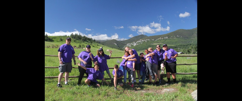 """Team Laurel"" is seen at the Beartooth Mountain Christian Ranch last week during Volunteers of America's 8th Annual Camp POSTCARD. From the left are Junior Mentor Al Luben, Lexie Mourich, Seliene Logan, Wyatt Maynard, Emma–Lee Huck, Alexis Carrier, Juniper Washburn–Jenness, Konner Moore, Amias Kujala, Gage Moore and Junior Mentor Colton Folts."