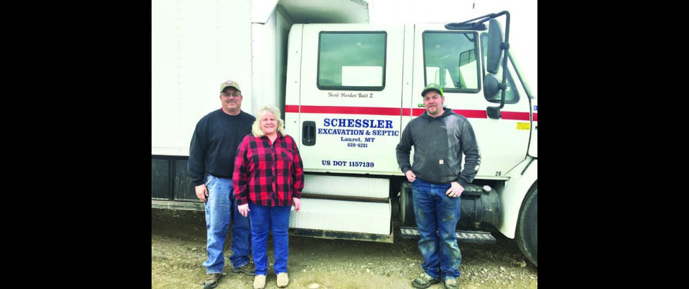 Rob, Julie and Heston Schessler have sold the ready-mix portion of their business and will now operate as Schessler Excavation & Septic Medic. Outlook photo by Stacey Osborne